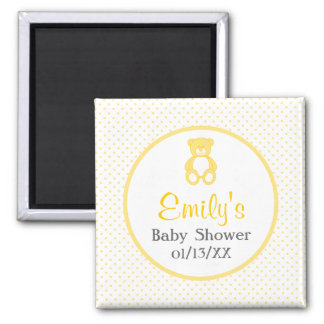 Save the Date Teddy Bear Baby Shower Magnet