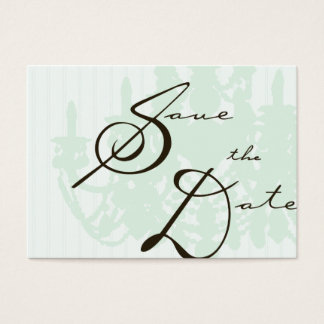 Save the Date Template Business Card