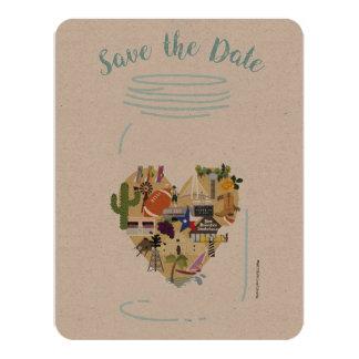 Save the Date Texas Mason Jar Invitation