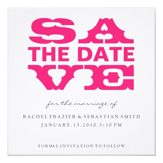 SAVE THE DATE - TEXT IN TEXT CARD