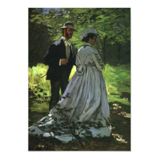 Save the Date, The Promenaders (Strollers),  Monet Card