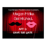 Save the Date Theater Wedding Postcard