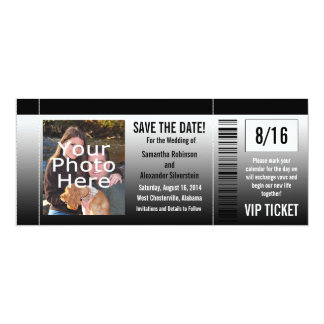 Save the Date Ticket Invitations with Photo