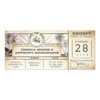 save the date tickets - vintage invitations