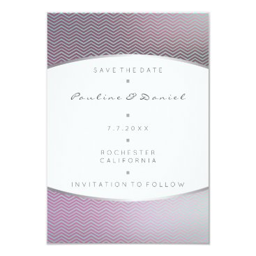 Beach Themed Save The Date Tiffany  Aqua Silver Gray Purple Card