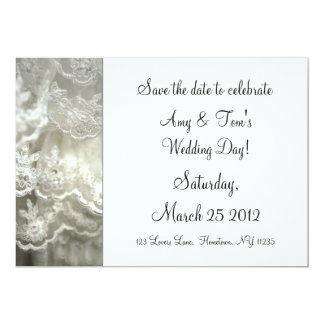 Save the date to celebrate 5x7 paper invitation card