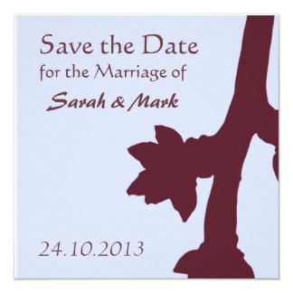 Save the Date Tree Branch Blossom Invite
