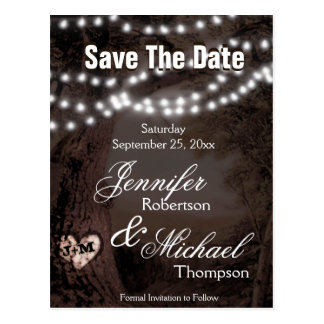 Save the Date - Tree of Lights Postcard