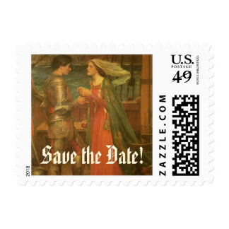 Save the Date! Tristan and Isolde by JW Waterhouse Stamp