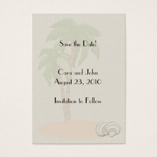 Save the Date Tropical Business Card