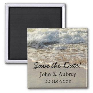 Save the Date Tropical Destination Beach Wedding Magnet