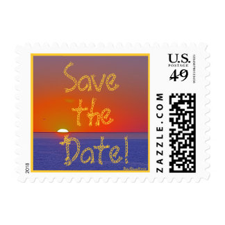 Save the Date! Tropical Postage Stamp