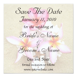 Save the Date Tropical Wedding Card