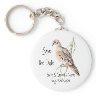 Save the Date, TurtleDove, Bird Wedding keychain