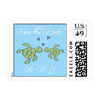Save the Date Turtles Stamp