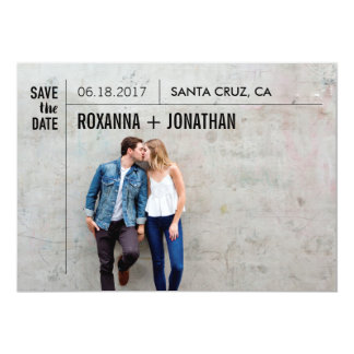Save The Date - Type Lovers Card