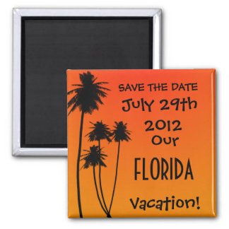 Save the Date Vacation Magnet