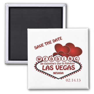 Save the Date Valentine's Day in Las Vegas Magnet