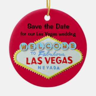 Save the Date Vegas Weddings Ornaments