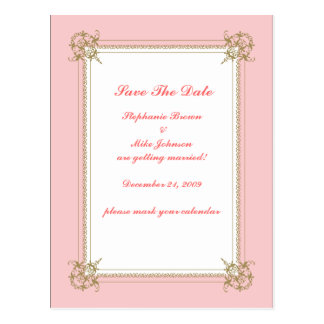 Save The Date Victorian Bliss Postcard