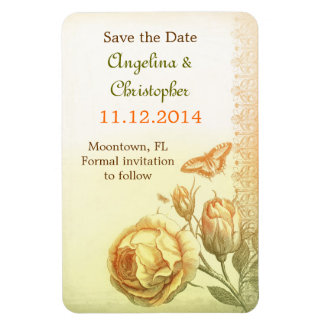 save the date victorian vintage picture magnets