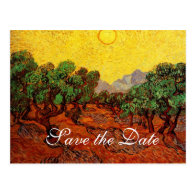 Save the Date,Vincent van Gogh Olive Trees Post Cards