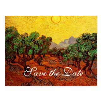 Save the Date,Vincent van Gogh Olive Trees Postcard