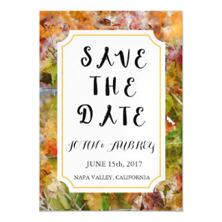 Save the Date Vineyard or Winery Wedding Magnet