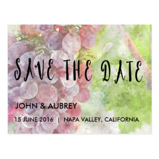 Save the Date Vineyard or Winery Wedding Postcard