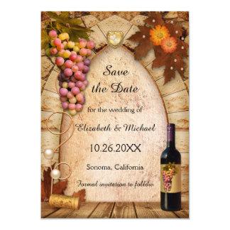 Save the Date Vineyard Photo Wedding Invitation