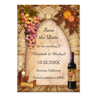 Marvelous Save The Date Vineyard Photo Wedding Invitation