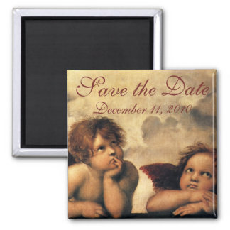 Save the Date! Vintage Angels by Raphael Magnet