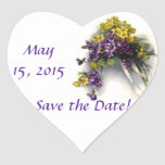 Save the Date Vintage Bouquet Sticker