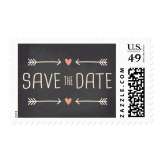 Save the Date Vintage Chalkboard Design Postage