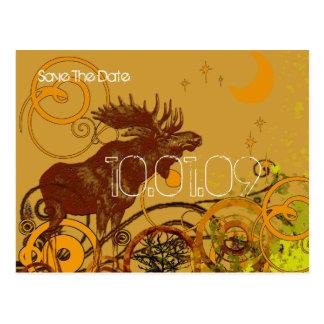 Save the Date- Vintage Moose Postcard