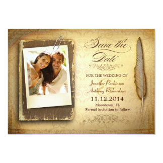 save the date vintage photo invitations