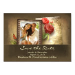 "save the date vintage photo rustic invitations 5"" x 7"" invitation card"