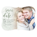Save the Date Vintage Rose Pastels: Smoke Green Card