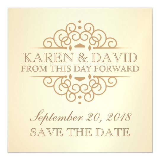 save the date vintage scrolls wedding reminder magnetic invitation