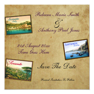 Save The Date ~ Vintage Sorrento Card
