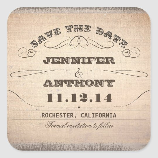 save the date vintage typography old stickers