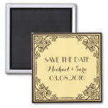Save The Date Vintage Wedding Magnet Magnet