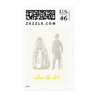 Save the Date Vintage Wedding Postage