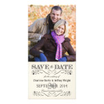 Save the Date Vintage White Wedding Photocards Card