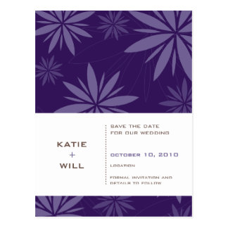 SAVE THE DATE :: vitality purple Post Cards