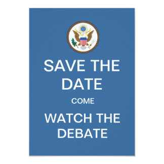 Save The Date Watch The Debate Party Invitation