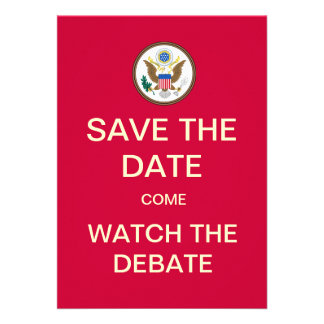 Save The Date Watch The Debate Party Invite
