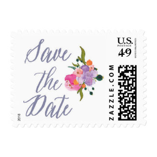 Save the Date Watercolor Stamp