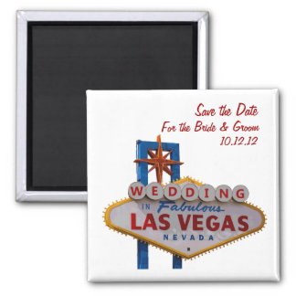 """Save the Date"" WEDDDING In Las Vegas Magnet"