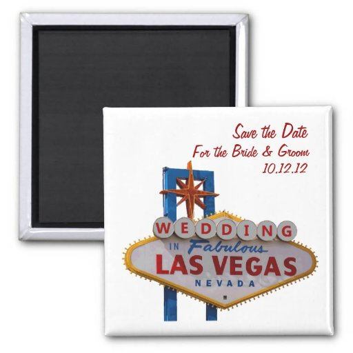 """Save the Date"" WEDDDING In Las Vegas Magnet"